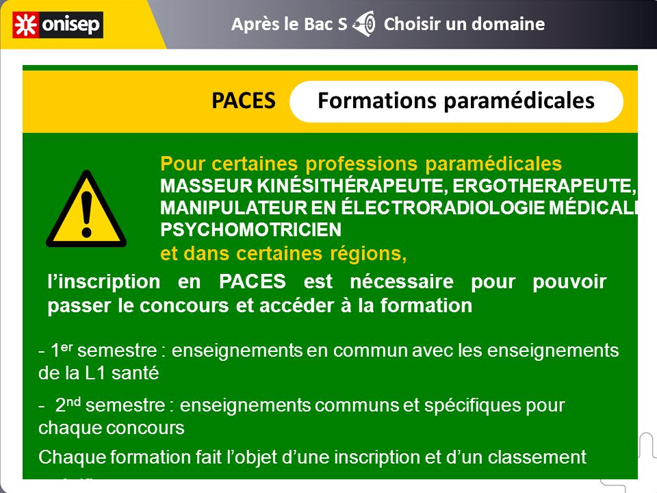 PACES Formations paramédicales