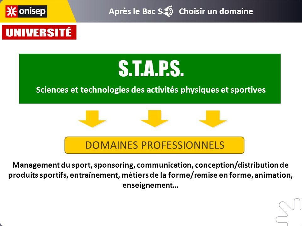 Sciences et technologies des activités physiques et sportives