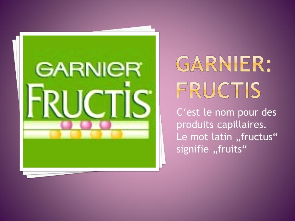 GARNIER:FRUCTIS C'est le nom pour des produits capillaires.