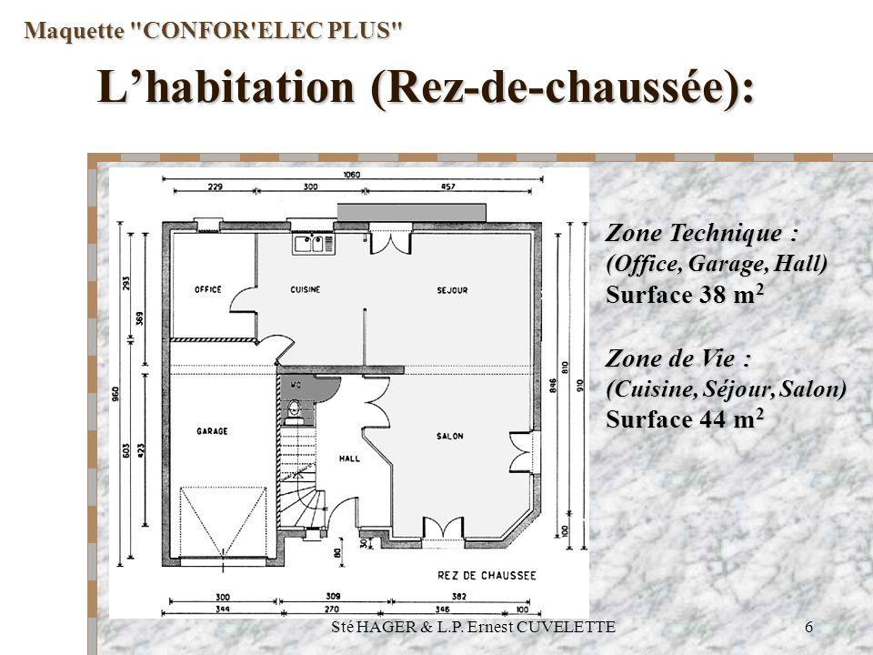 L'habitation (Rez-de-chaussée):