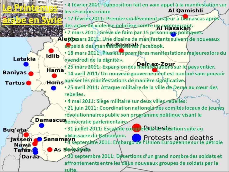 Le Printemps arabe en Syrie