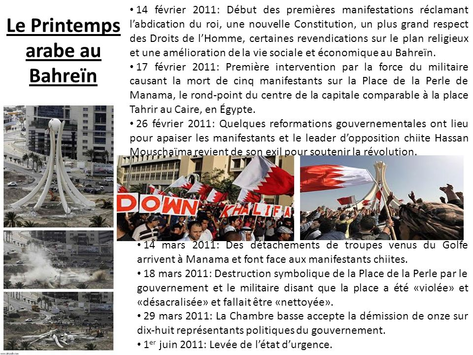 Le Printemps arabe au Bahreïn