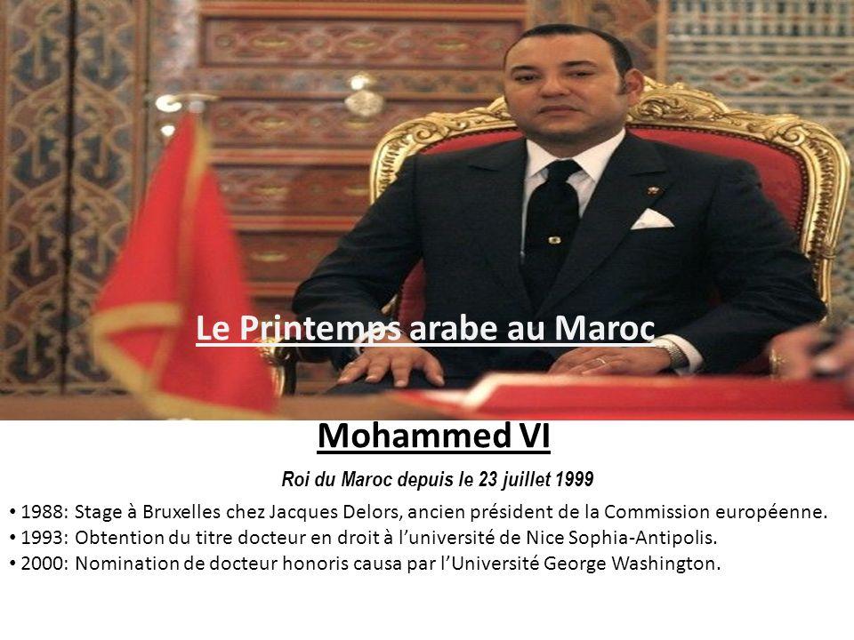 Le Printemps arabe au Maroc