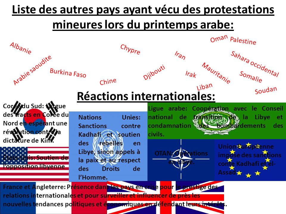 Réactions internationales: OTAN: Opérations en Libye.
