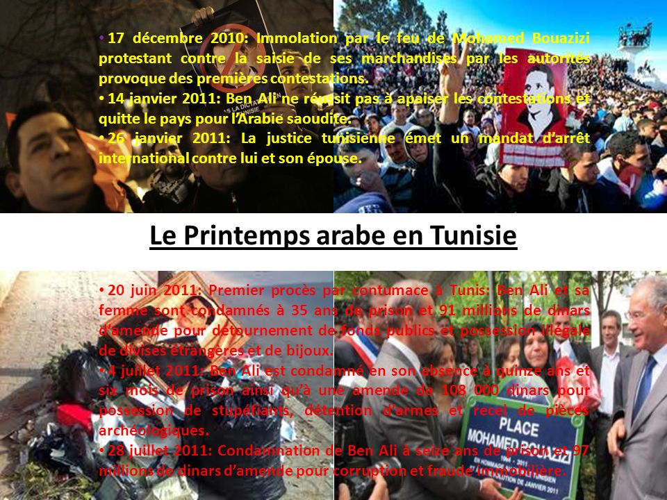 Le Printemps arabe en Tunisie