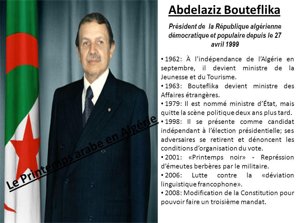 Le Printemps arabe en Algérie