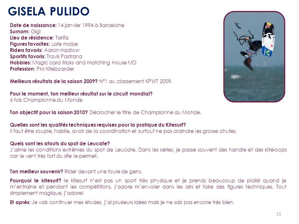 GISELA PULIDO Date de naissance: 14 janvier 1994 à Barcelone