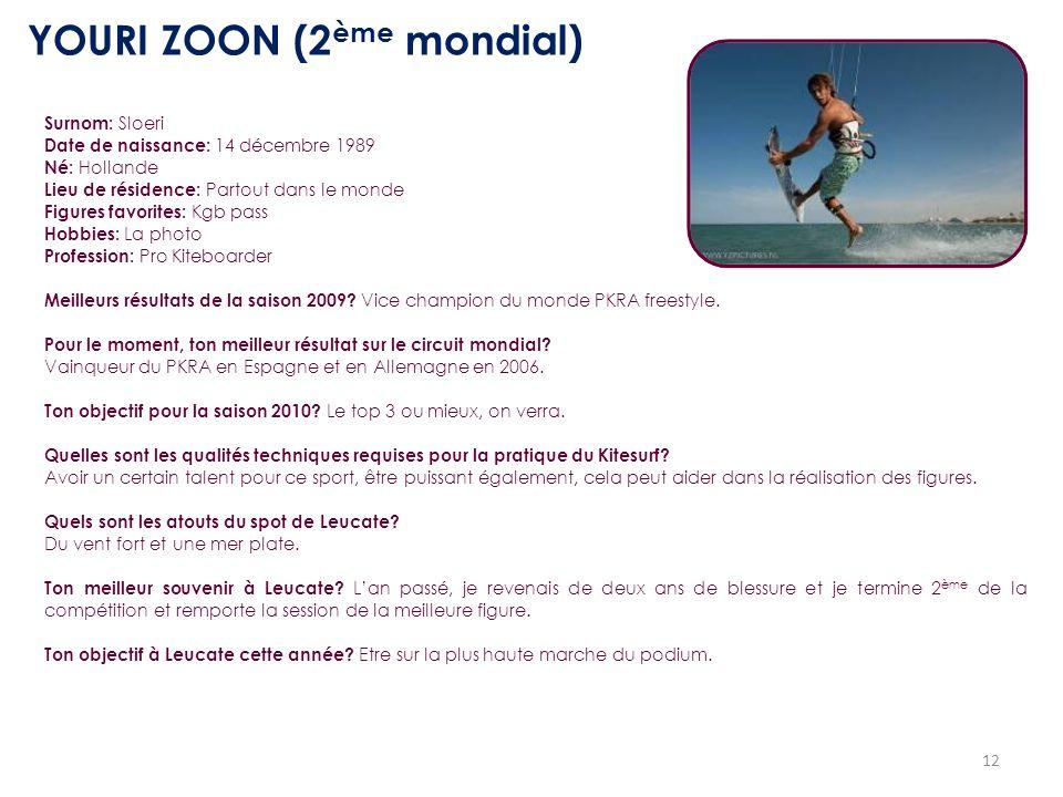 YOURI ZOON (2ème mondial)
