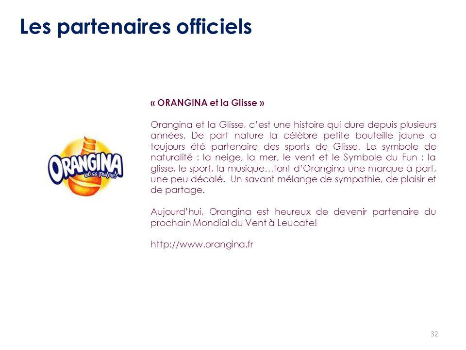 Les partenaires officiels