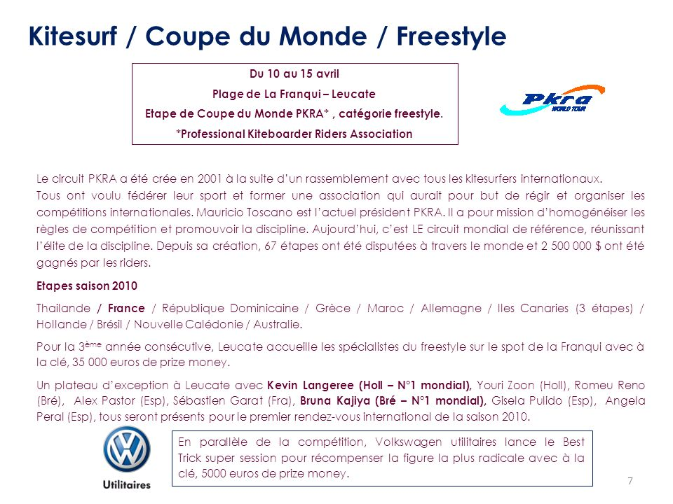 Kitesurf / Coupe du Monde / Freestyle