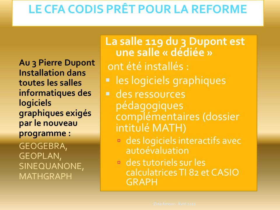 LE CFA CODIS Prêt pour la reforme