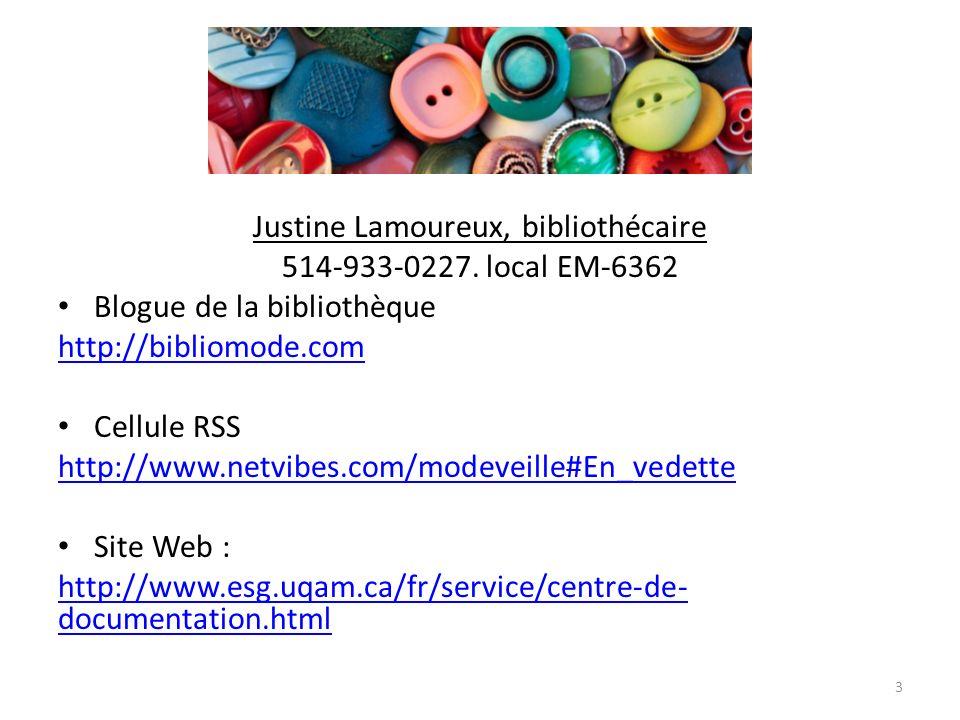 Justine Lamoureux, bibliothécaire