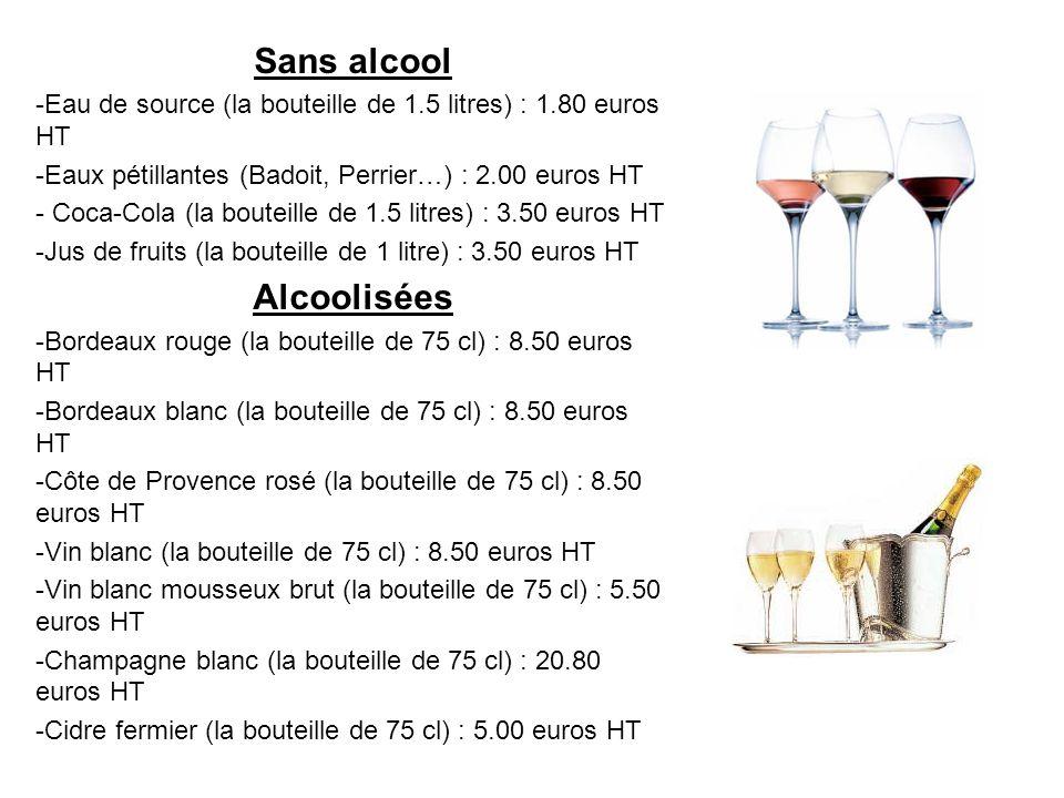 Sans alcool Alcoolisées