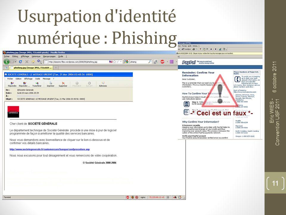 Usurpation d identité numérique : Phishing