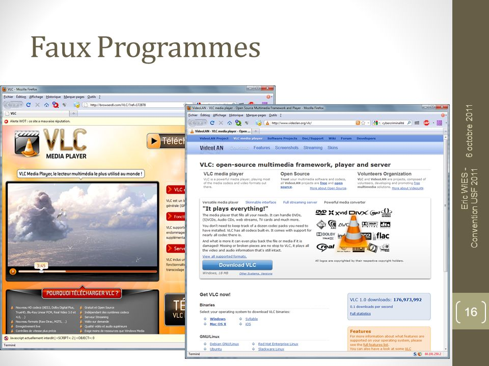 Faux Programmes 6 octobre 2011 Eric WIES - Convention USF 2011