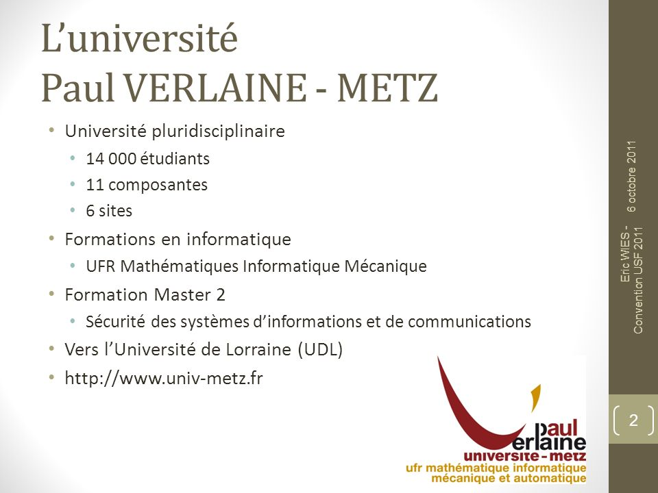 L'université Paul VERLAINE - METZ