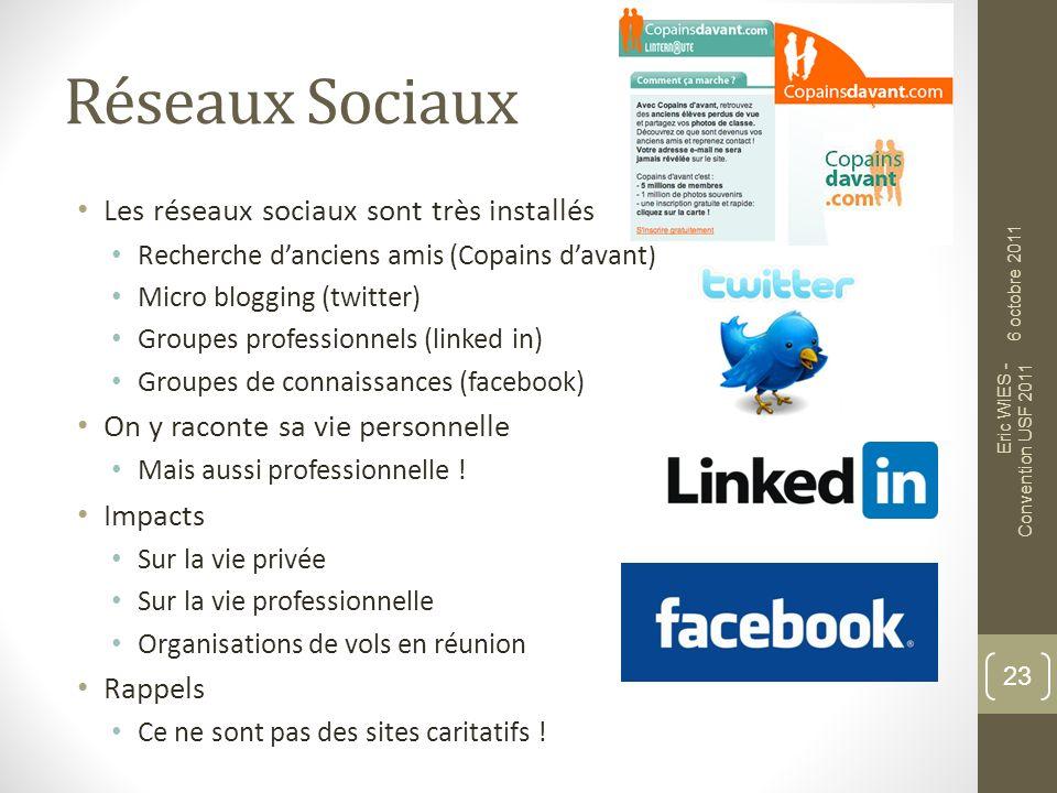 Réseaux Sociaux Les réseaux sociaux sont très installés
