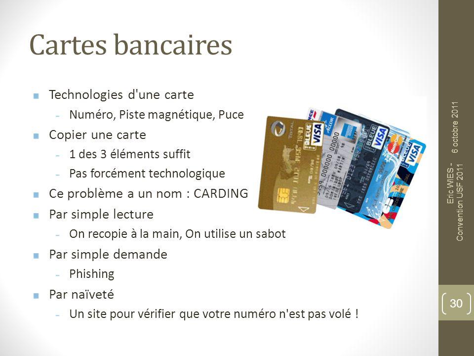 Cartes bancaires Technologies d une carte Copier une carte