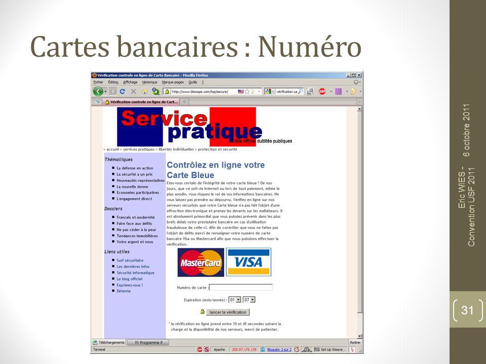 Cartes bancaires : Numéro