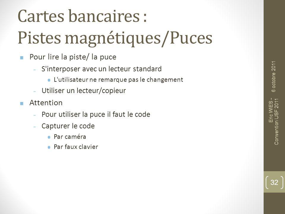 Cartes bancaires : Pistes magnétiques/Puces