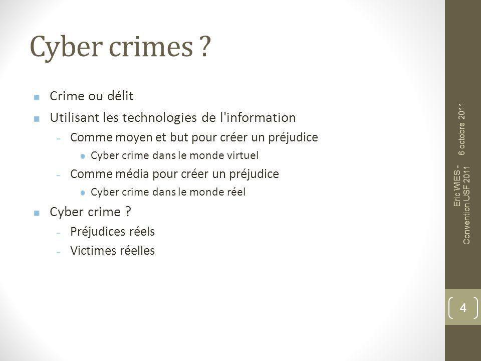 Cyber crimes Crime ou délit