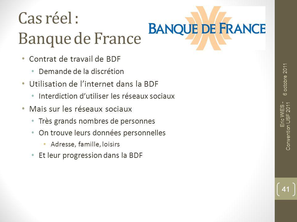 Cas réel : Banque de France