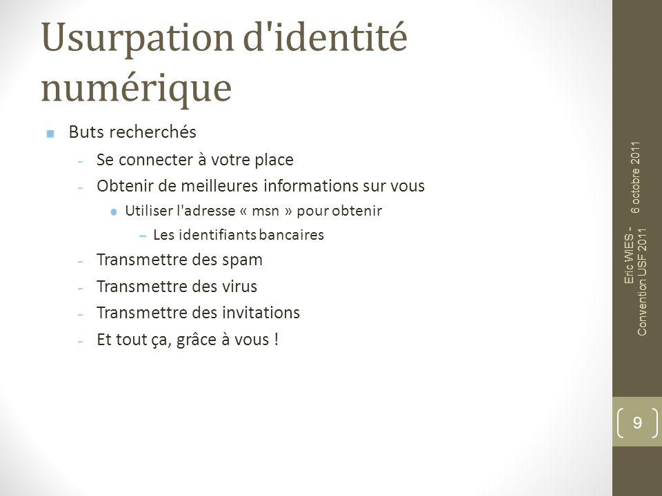 Usurpation d identité numérique