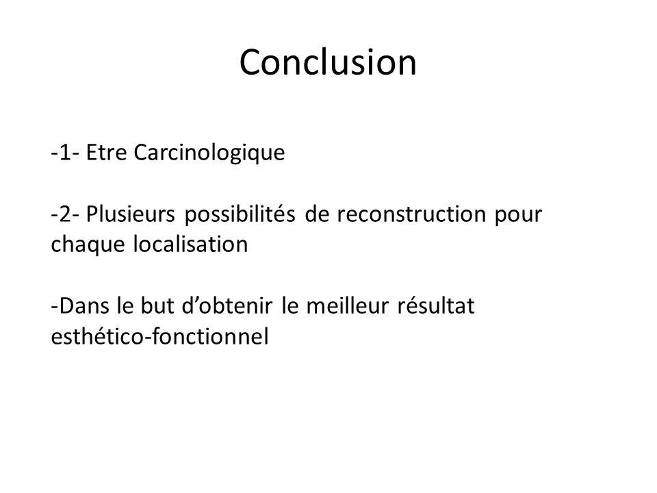 Conclusion 1- Etre Carcinologique