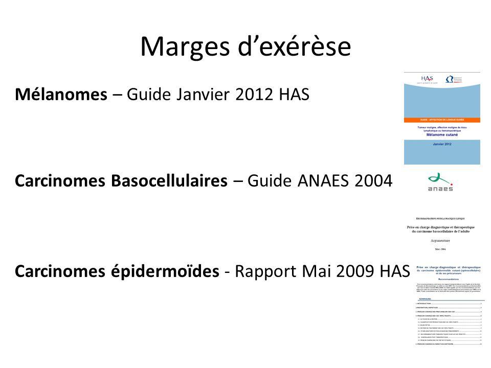 Marges d'exérèse Mélanomes – Guide Janvier 2012 HAS