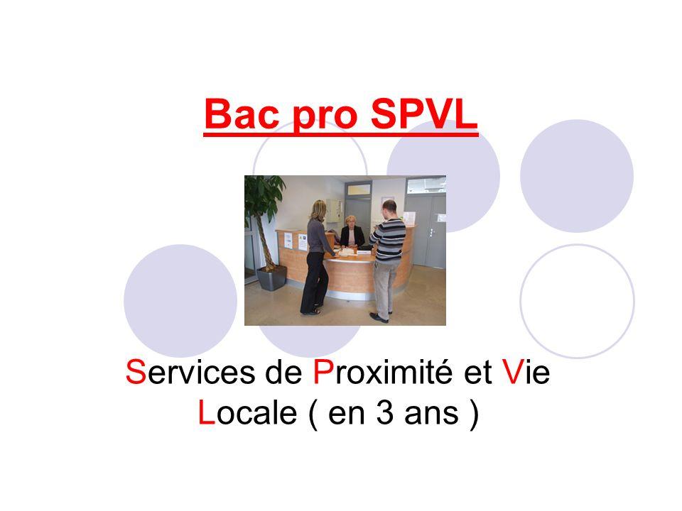 Services de Proximité et Vie Locale ( en 3 ans )
