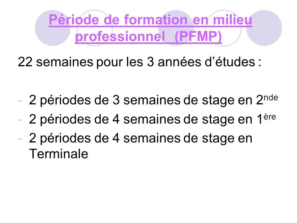 Période de formation en milieu professionnel (PFMP)