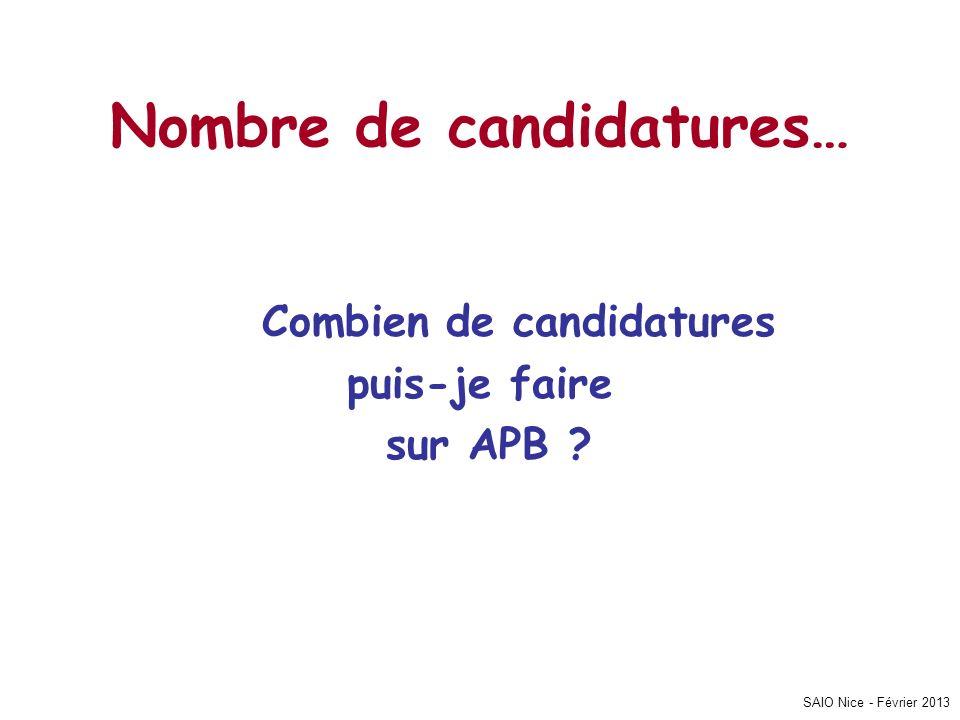 Nombre de candidatures…