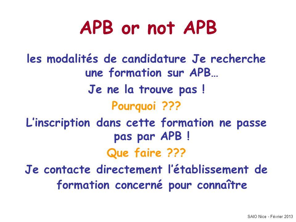 APB or not APB les modalités de candidature Je recherche une formation sur APB… Je ne la trouve pas !