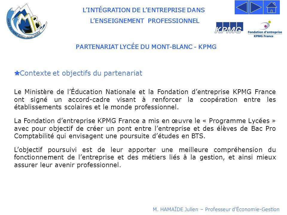 PARTENARIAT LYCÉE DU MONT-BLANC - KPMG