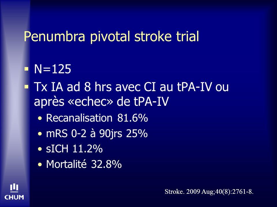Penumbra pivotal stroke trial