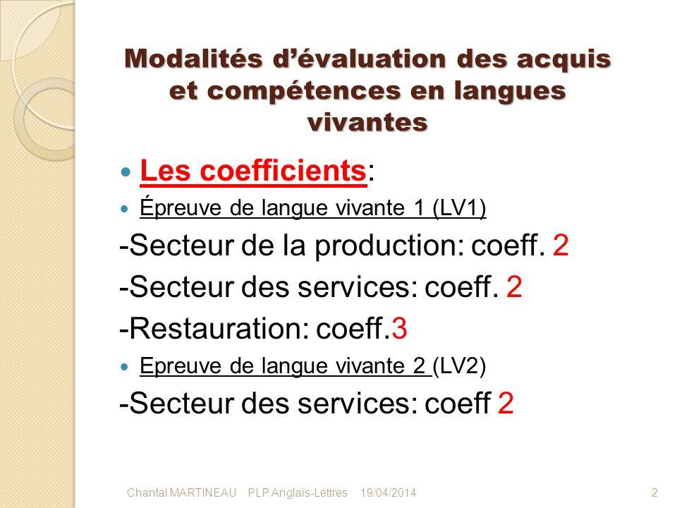Modalités d'évaluation des acquis et compétences en langues vivantes