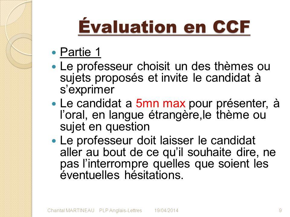 Évaluation en CCF Partie 1