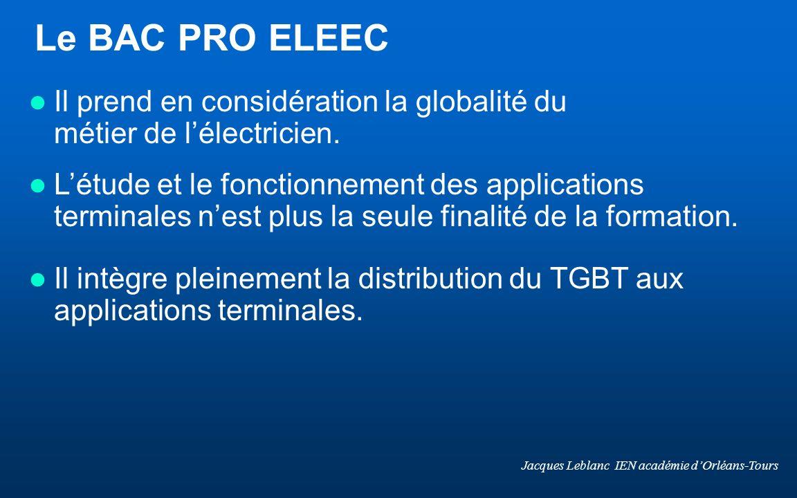 Le BAC PRO ELEEC Il prend en considération la globalité du métier de l'électricien.