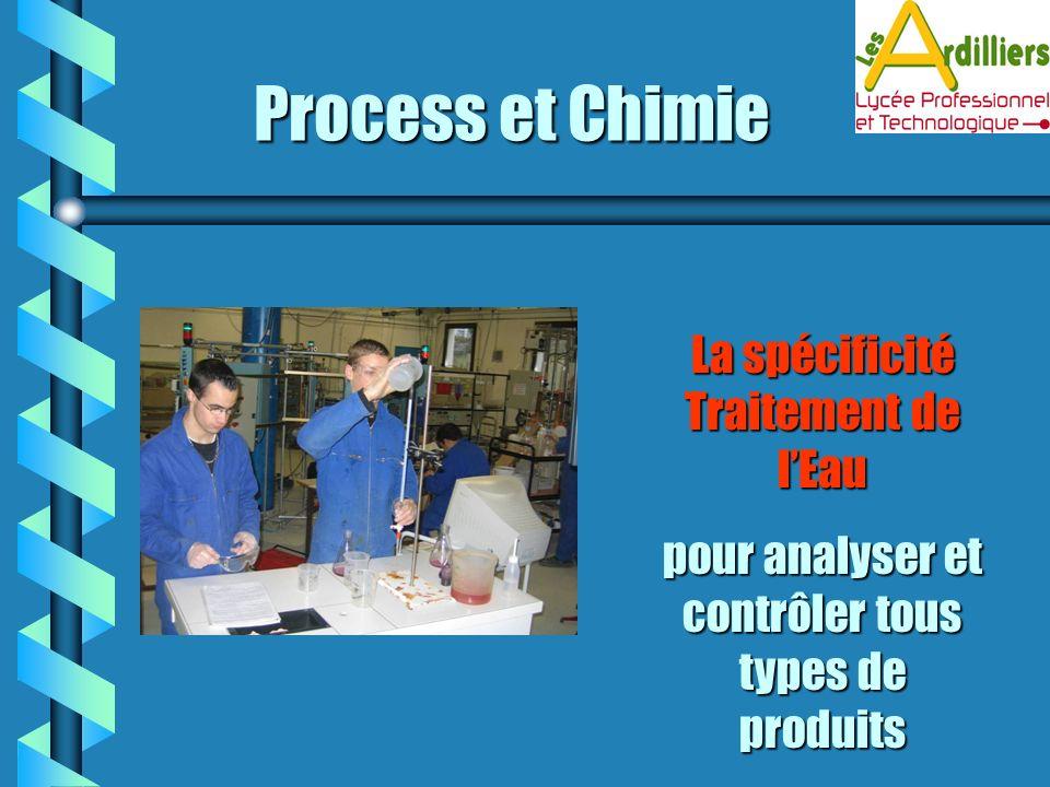 Process et Chimie La spécificité Traitement de l'Eau