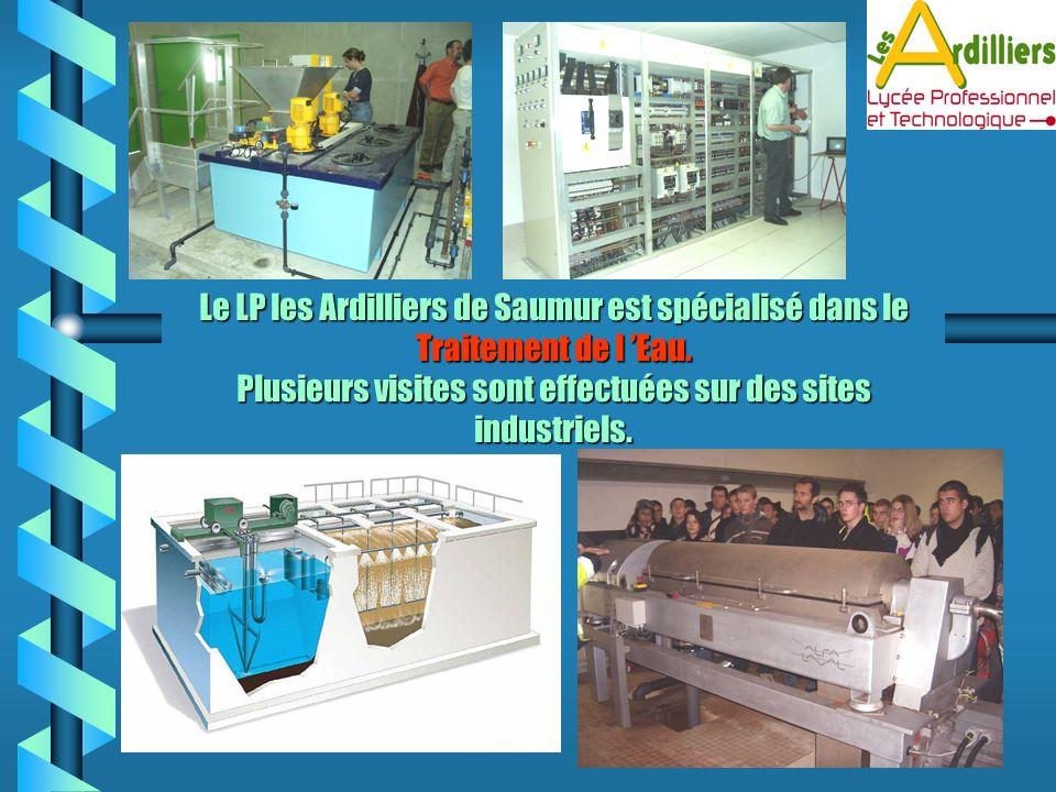 Le LP les Ardilliers de Saumur est spécialisé dans le Traitement de l 'Eau.