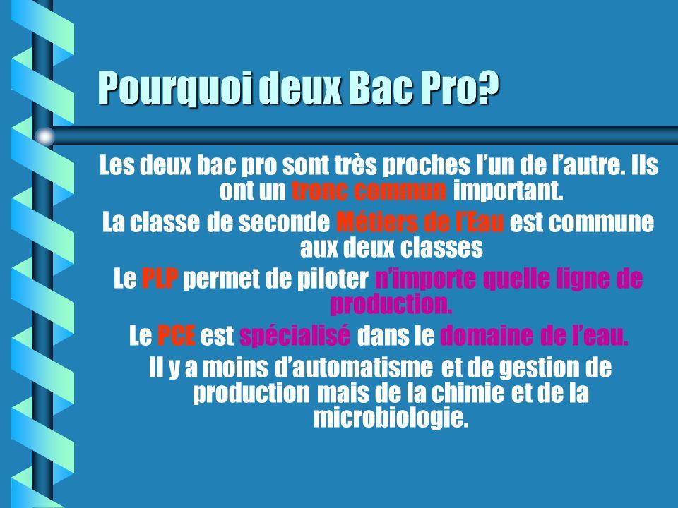 Pourquoi deux Bac Pro Les deux bac pro sont très proches l'un de l'autre. Ils ont un tronc commun important.