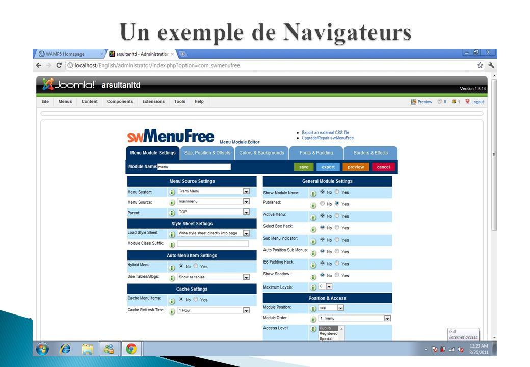 Un exemple de Navigateurs