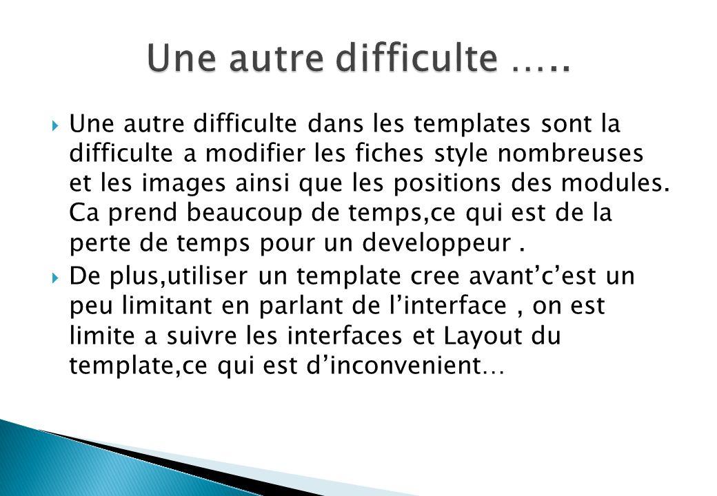 Une autre difficulte …..