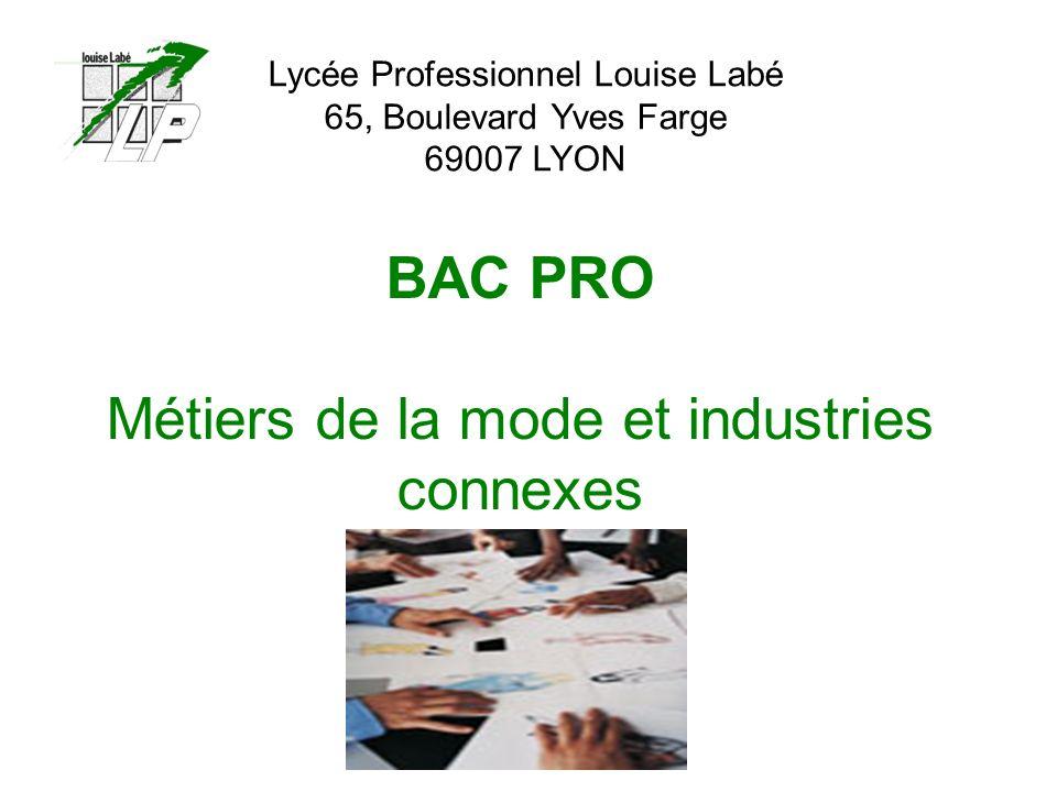BAC PRO Métiers de la mode et industries connexes