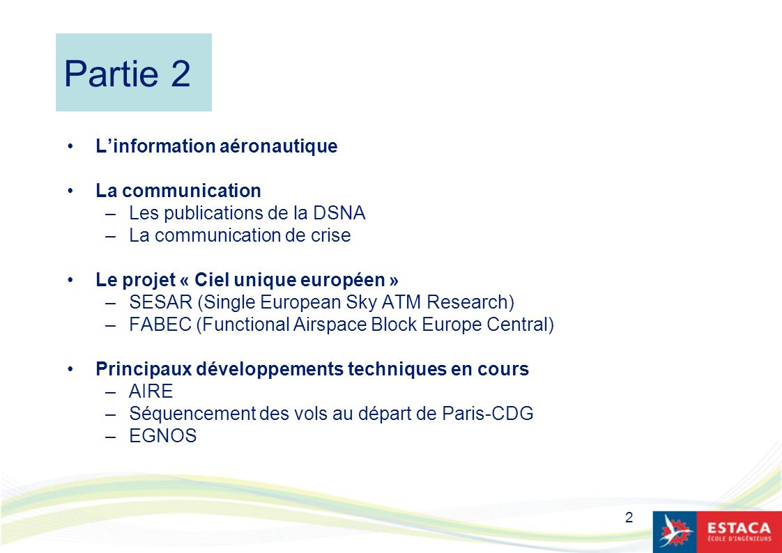 Partie 2 L'information aéronautique La communication