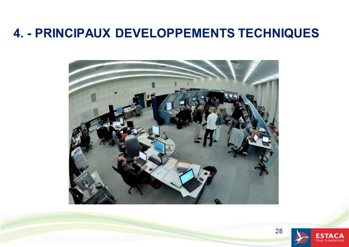 4. - PRINCIPAUX DEVELOPPEMENTS TECHNIQUES