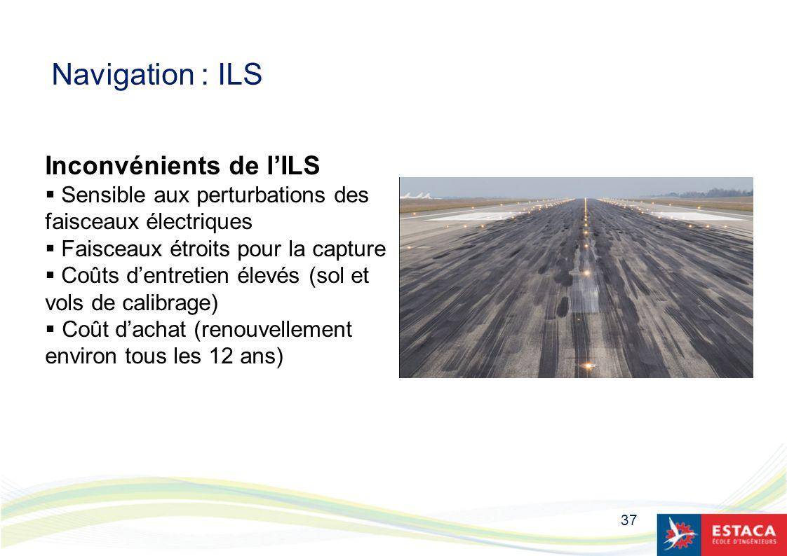 Navigation : ILS Inconvénients de l'ILS