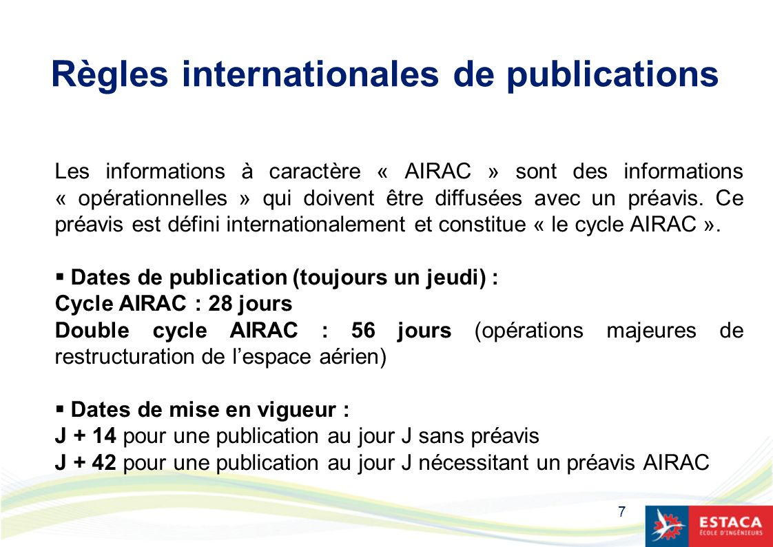 Règles internationales de publications