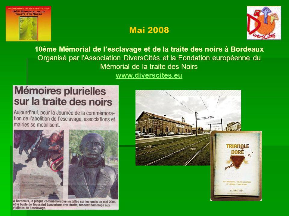 10ème Mémorial de l'esclavage et de la traite des noirs à Bordeaux