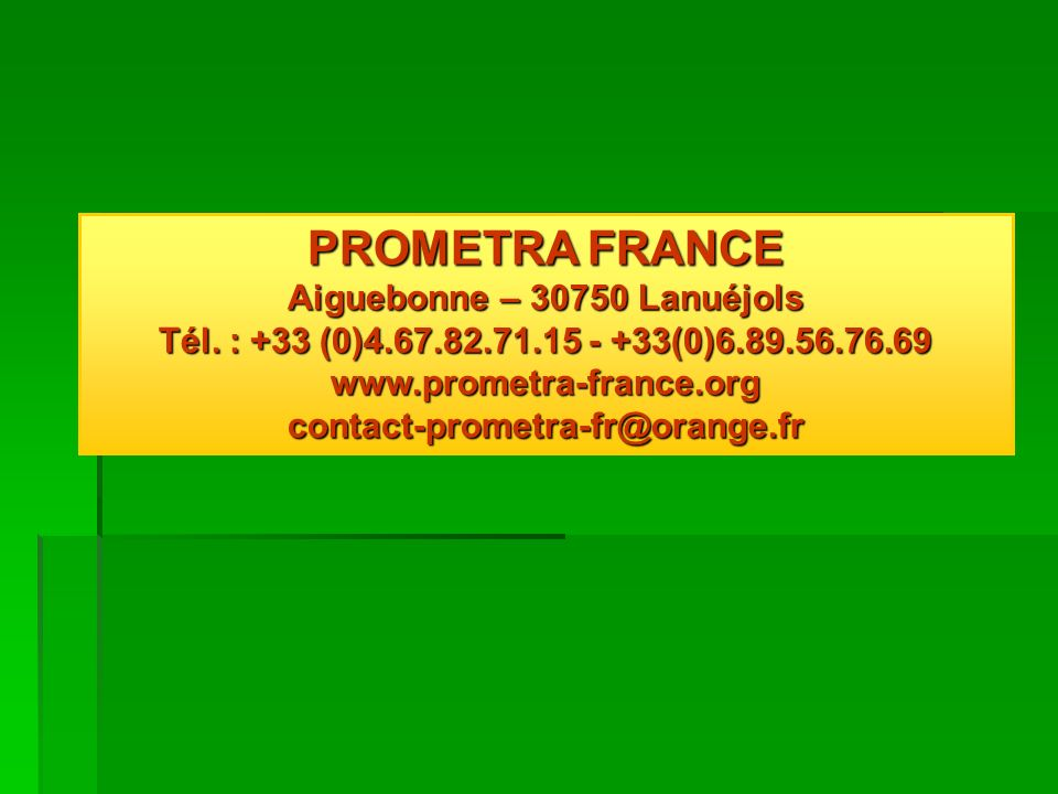 www.prometra-france.org contact-prometra-fr@orange.fr